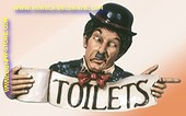 Toilettenschild Charlie,  B;72 cm, H: 45 cm